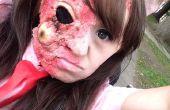 Facile de Zombie/brûlé la peau maquillage