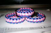 TRANS * bracelet paracorde drapeau (trois couleurs)