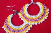 Circulaire Brick Stitch boucles d'oreilles bijoux faisant tutoriel