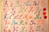 Tutoriel de l'écriture manuscrite - Alphabet en couleurs