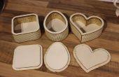 Personnalisé en forme de boîtes en bois