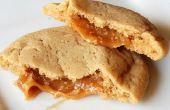 Cookies de cidre de pomme farcies caramel