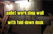 Palette bois atelier boiseries avec rabattables de bureau