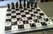 Jeu d'échecs de voyage de découpées au laser
