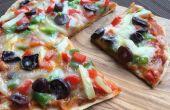 Pizza plat de pain de blé entier sans four