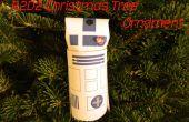 R2D2 arbre de Noël ornement d'un Tube de papier toilette