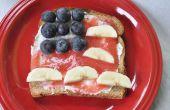 Toast de drapeau américain (4 juillet recette)