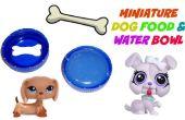 Bol de nourriture et d'eau du chien miniature