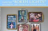 Peint Art magnétique « Bokeh Lights » (à partir de vieilles tôles à biscuits)