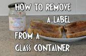 Moyen facile de supprimer des étiquettes de verre