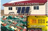 Faible coût de l'énergie solaire autonomes.