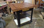 L'Art de réappropriation de plancher en chêne : Upcycling Shop Workstand