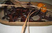 Décoration avec des gousses de caroubes l'automne