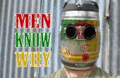 Fûts de bière très viril casque de soudage