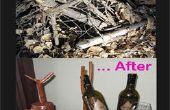 Avant et après le porte-bouteille vin