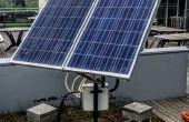Suiveur solaire deux axes avec moniteur d'énergie en ligne