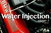 Injection-étape 1 de l'eau