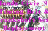 Remplacer le joint de la courroie de distribution et le vilebrequin (Honda Civic 1999, moteur D15B).