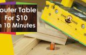 Comment faire pour créer une table à toupie pour menuiserie pour moins de $10 en 10 minutes