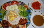 Plaque de coco riz (Nasi Uduk Komplit)