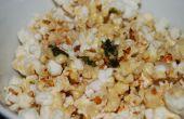 Maïs soufflé avec vinaigrette aux fines herbes ail beurre & chaux