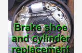 Remplacement des patins de frein arrière et cylindre de frein sur une ' 06 Citroen C3