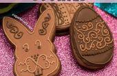 Biscuits au chocolat de Pâques avec remplissage de beurre d'amande