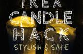 Bougie IKEA Hack une amélioration élégante et sûre