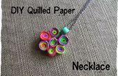 Collier en papier bricolage piquants