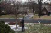 Suspendre des lumières d'arbre de Noël sans une échelle