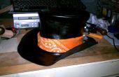 Chapeau haut de forme SteamPunk de cuir