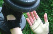 Crochet et une salle de sport gants en cuir