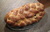 Tresse de pain aux raisins bio