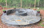 Pierre placage Fire Pit Patio
