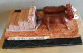 Sculpture en céramique : Boeufs, transporter les Ox
