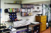 Suspendu étagères faites de Longboards