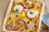 Pizza de visage de monstre