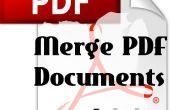 Comment fusionner des Documents PDF