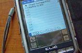 Écran de PDA Palm fou