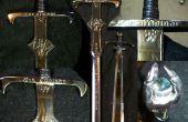 Fabrication d'épée par décapage