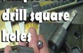 Un outil simple pour percer des trous carrés