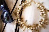 Collier perle et goupille de sécurité