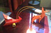 Comment faire de Santa et Rudolph, une LED allumée au nez, à l'aide d'une lampe solaire