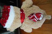 Coudre beary flanelle mignon bébé couette à l'intérieur d'une cachette secrète de peluche