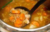 Soupe de légumes confits aux lentilles vertes !