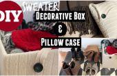Boîte décorative pull & aucun ne coudre taie d'oreiller de vieux chandail
