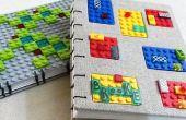 2 journaux de LEGO - reliure copte