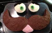 Comment faire un gâteau de visage de moustache