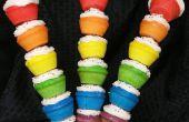 Brochettes de Cupcake arc-en-ciel