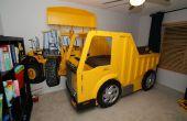 Construire un lit de camion à benne basculante avec étagère de livre chargeur frontal